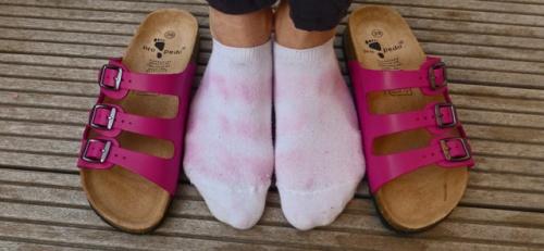 Schuhe färben ab Was kann man tun?